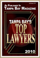 Rated as one of Tampa Bay's top lawyers
